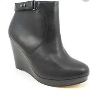 Torrid 9.5W Faux Vegan Leather Moto Wedge Bootie